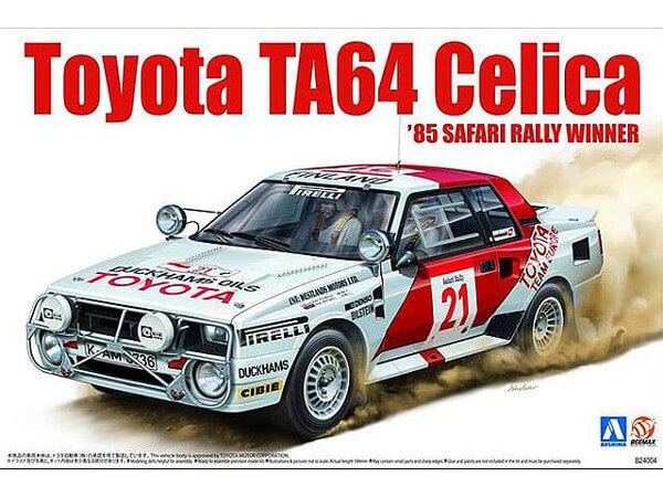 BEE24004 Toyota Celica TA64 '85 Safari Rally winner Plastic Kit