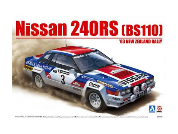 BEE24007 Nissan 240RS 1983 New Zealand Rally Plastic Kit