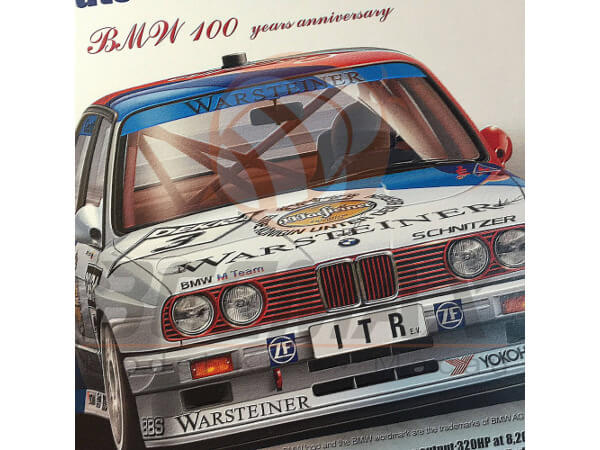 BEE24009 BMW M3 (E30) 1991 Deutschland Year Champion Plastic Kit