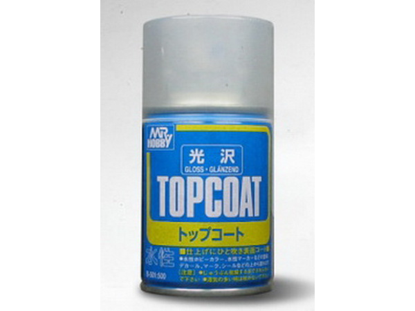 MRHB501 Mr Top Coat Gloss spray (86 ml) Paint Material