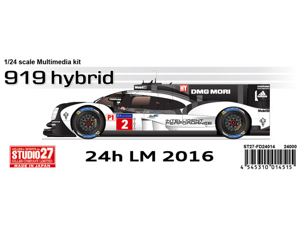 STU27FD24014 Porsche 919 Hybrid  #1 / #2  LM 2016 winner Multimedia Kit