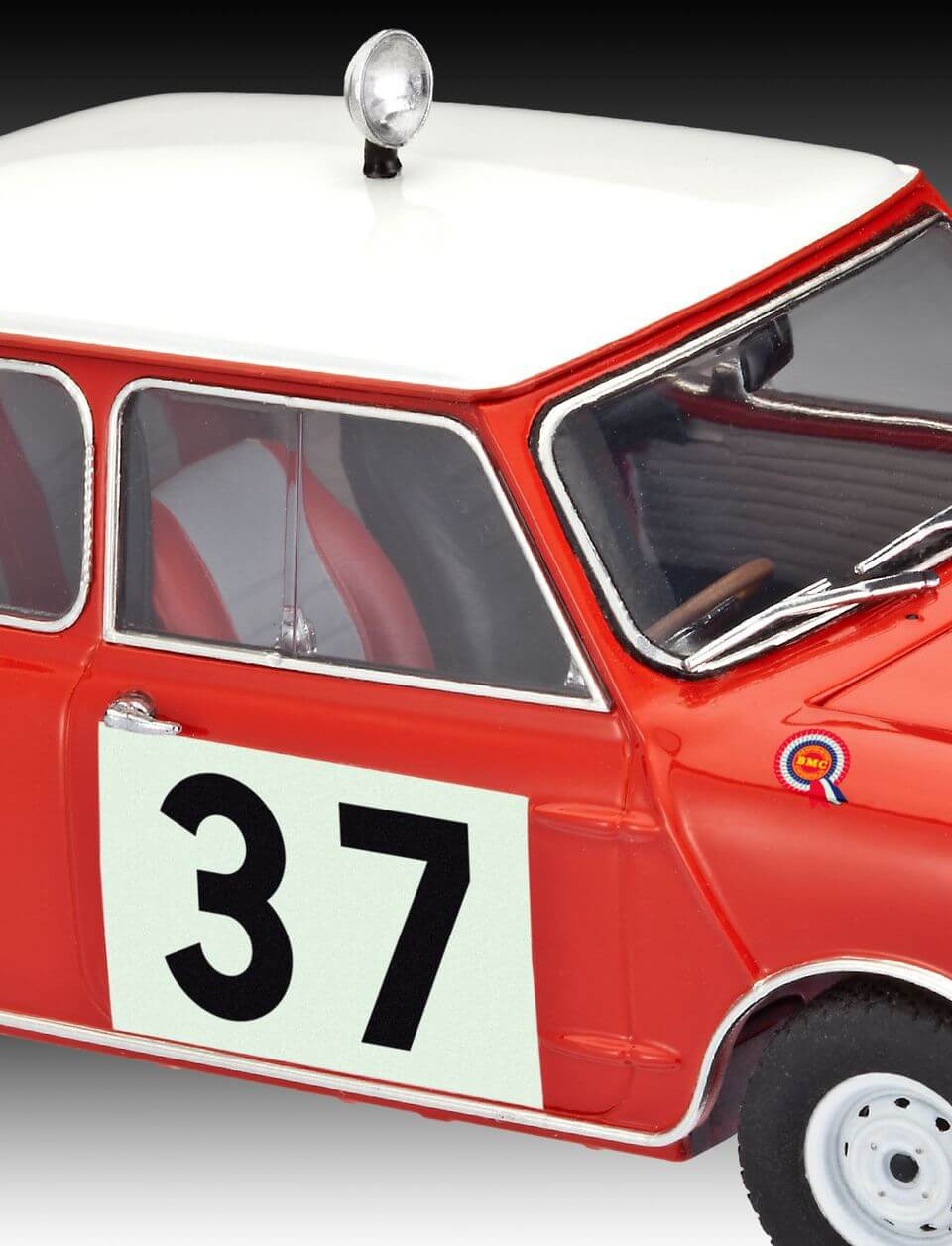 REV07064 Mini Cooper Winner Rally Monte Plastic Kit