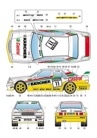 STU27DC1011 Mercedes 190E  Karcher  #11/12  DTM 1992 Waterslide decal Decal