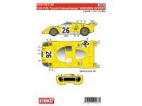 "STU27DC1124 Ferrari 512S  ""Ecurie Francorchamps""  #3#18#26  '70/'71 Waterslide decal Decal"