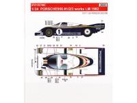 STU27DC766c Porsche 956  works #1/2/3  LM 1982 Waterslide decal Decal