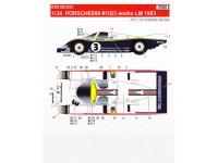 STU27DC767c Porsche 956  works #1/2/3  LM 1983 Waterslide decal Decal