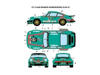 STU27DC974 Porsche 934 Vaillant - Kremer  #7/9  1976 Waterslide decal Decal