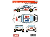 "STU27DC981 Porsche 934  ""ELF""  #65  LM 1976 Waterslide decal Decal"