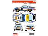 STU27DC982 Porsche 934 HCC  #69  LM 1976 Waterslide decal Decal