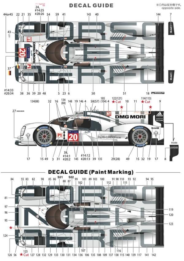 STU27FD24009 Porsche 919 Hybrid #20  LM 2014 Multimedia Kit