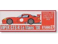 STU27FK2431 Viper GTS-R  Le Mans 2000 Multimedia Kit