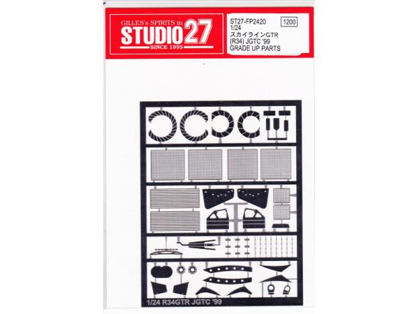 STU27FP2420 Nissan Skyline GTR(R34)   grade up parts Etched metal Accessoires