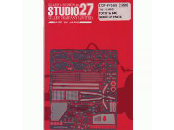 STU27FP2499 Toyota 84C  grade up parts Etched metal Accessoires
