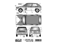 TABU24076 Golf GTI  Marlboro #32#36 Monte Carlo 1980  for Revell) Waterslide decal Decal