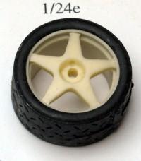 24SP17-5 4 rims Speedline 5 spokes + 4 treated tyres  17 inch Resin Accessoires