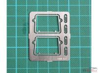 HME007 VW Type 2 Safari windshield frames Etched metal Accessoires