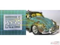 HME016 VW Beetle detail set 2 Etched metal Accessoires