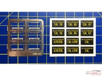 HME022 License plate frames + plates set 1 Etched metal Accessoires