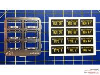 HME024 License plate frames + plates set 3 Etched metal Accessoires