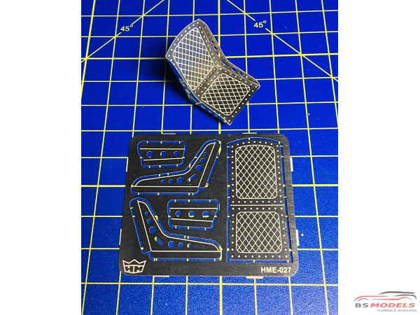 HME027 Bomber seat set 1 (2 seats) Etched metal Accessoires