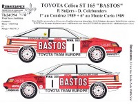 TK24-394 Toyota Celica ST165 Bastos  P. Snijers  winner Condroz 1989 decal Waterslide decal Decal