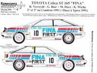 TK24-395 Toyota Celica ST165 FINA  Verreydt - Duez  Condroz 1991 decal Waterslide decal Decal
