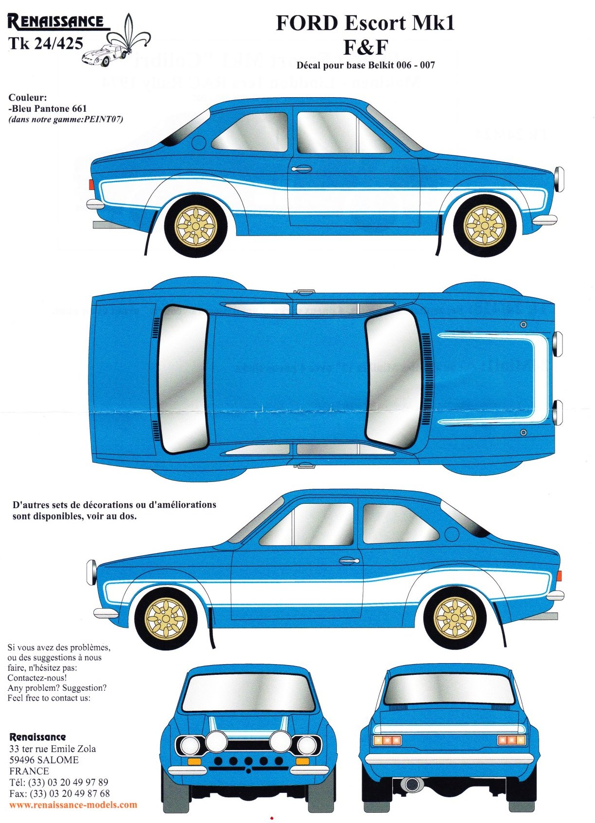 Tk24 425 ford escort mk1 fast and furious 6 decal waterslide decal decal