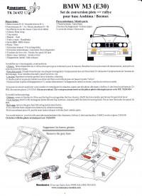 TK24-432 BMW M3 transkit  race to rally version  for Beemax Multimedia Transkit