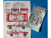 TK24-433 BMW M3 Bastos/Motul  Beguin-Chatriot Tour de Corse 1988 decal Waterslide decal Decal