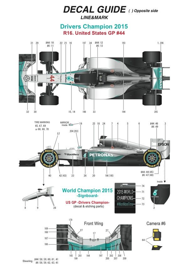 MONOMP031 Mercedes F1 W06 Hybrid  US GP - World Champion 2015 - Lewis Hamilton Multimedia Kit