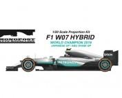 MONOMP034 Mercedes F1 W07 Hybrid  Japan/Abu Dhabi - World Champion 2016 - Nico Rosberg Multimedia Kit