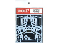 STU27CD24008 Lamborghini Murcilago R-SV carbon decal (for AOS) Waterslide decal Decal