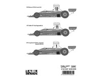 TABU12077 Ferrari 312T   1975/76  Lauda  /Regazzoni Waterslide decal Decal