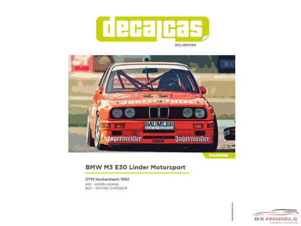 DCLDEC BMW M E Linder Motorsport Jagermeister DTM - 1992 bmw m3