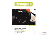 DCLETC001 Goodyear Eagle tyre markings paint template Etched metal Accessoires