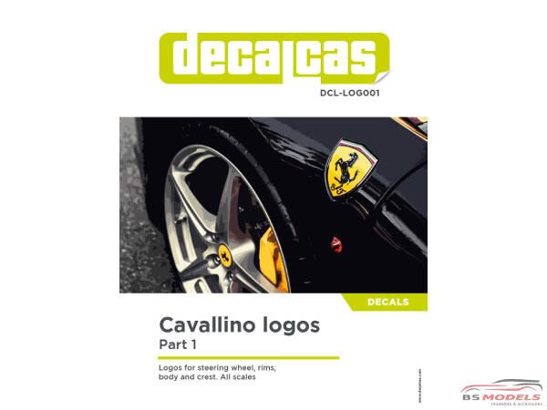DCLLOG001 Cavallino logos - part 1 Waterslide decal Decal