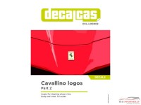 DCLLOG002 Cavallino logos - part 2 Waterslide decal Decal