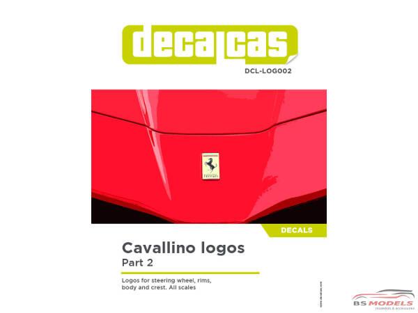 DCLLOG002 Cavallino logos - part 2 Waterslide decal Decal