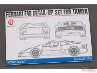 HD020327 Ferrari F40  PE+metal parts+resin  (for Tamiya) Multimedia Accessoires