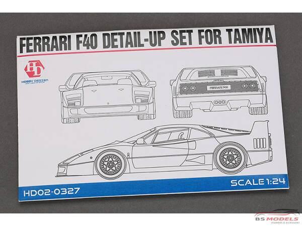 HD020327 Ferrari F40  PE+metal parts+resin  (for Tamiya) Multimedia Accessoires