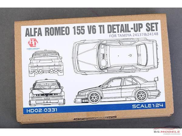 HD020331 Alfa Romeo 155 V6  PE+metal parts+resin  (for Tamiya) Multimedia Accessoires