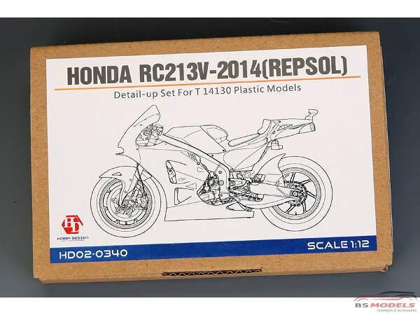 HD020340 Honda RC213V-2014 (Repsol)  PE + metal parts (for Tamiya) Multimedia Accessoires