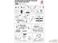 HD020342 Ford Escort RS 1600 MK1   PE+metal parts+resin  (for Bekits) Multimedia Accessoires