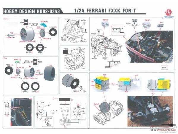 HD020343 Ferrari FXX-K   PE+metal parts+resin  (for Tamiya) Multimedia Accessoires