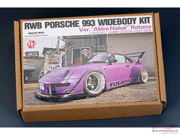 "HD030458 RWB Porsche 993 widebody transkit ""Akira Nakai Rotana"" Multimedia Transkit"