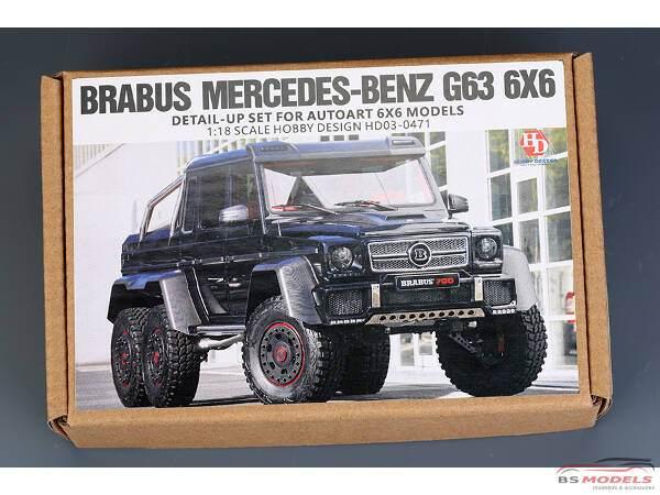 HD030471 Brabus Mercedes-Benz  G63 6x6  PE+resin+decal  (for Autoart) Multimedia Transkit