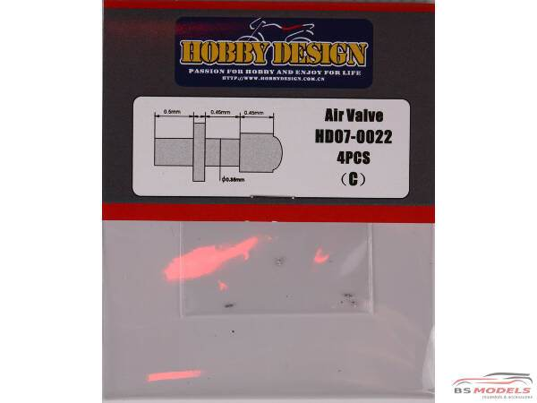 HD070022 Tire air valve   (for 1/24 scale) Multimedia Accessoires