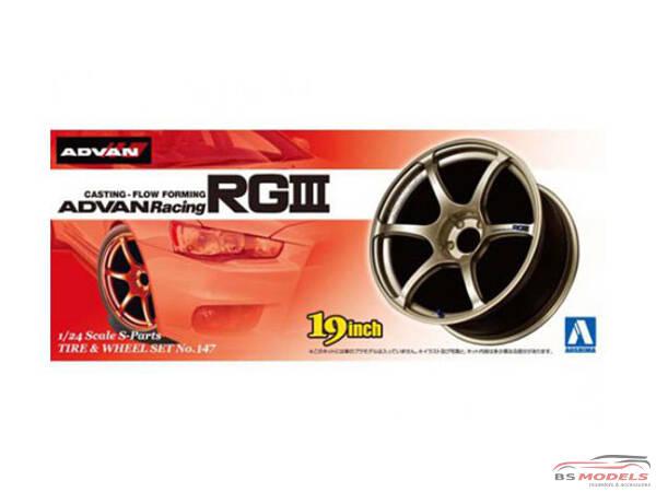 AOS00902 Advan Racing Rgiii - 19 inch Plastic Accessoires
