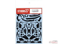 STU27CD12006 Ninja H2R  Carbon decal  for Tamiya Waterslide decal Decal