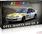 "BEL008 Opel manta 400 GR B - Frequelin-""Tilber""  - Tour de Corse 1984 Plastic Kit"
